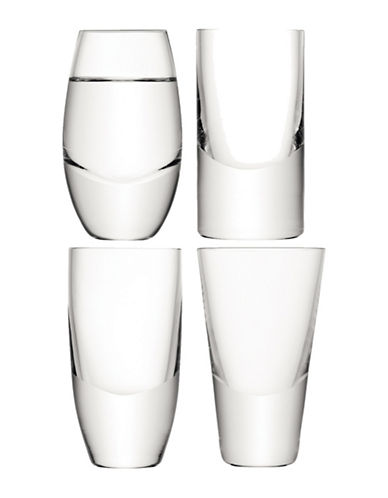 Lsa International Lulu Set of Four Handmade Vodka Glasses-CLEAR-One Size