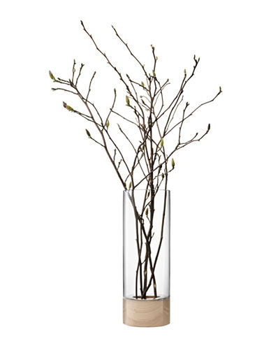 Lsa International Lotta Vase With Ash Base-CLEAR-One Size