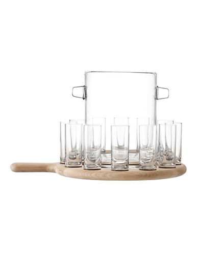 Lsa International Paddle Vodka Serving Set and Oak Paddle-CLEAR-One Size