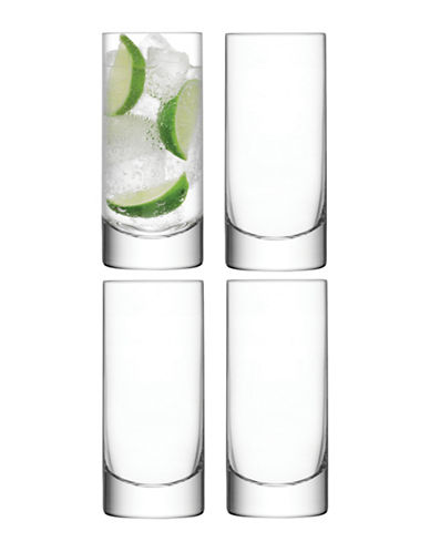 Lsa International Set of Four Bar Highball Glasses-CLEAR-One Size