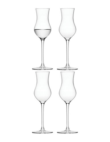 Lsa International Set of Four Bar Grappa Glasses-CLEAR-One Size