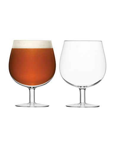 Lsa International Set of Two Bar Craft Beer Glasses-CLEAR-One Size