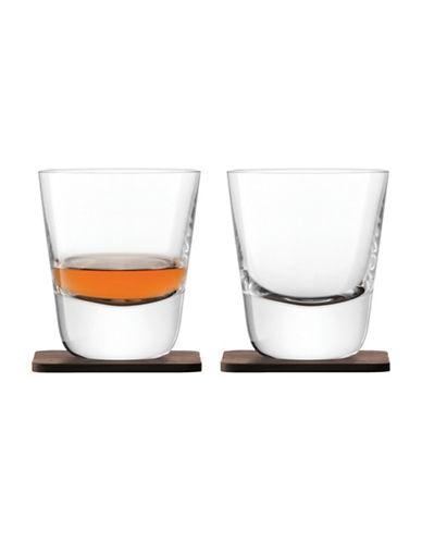 Lsa International Set of Two Whisky Arran Tumblers-CLEAR-250 ml