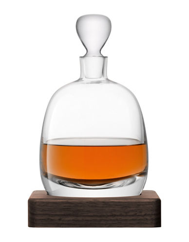 Lsa International Whisky Islay Decanter and Walnut Base-CLEAR-One Size