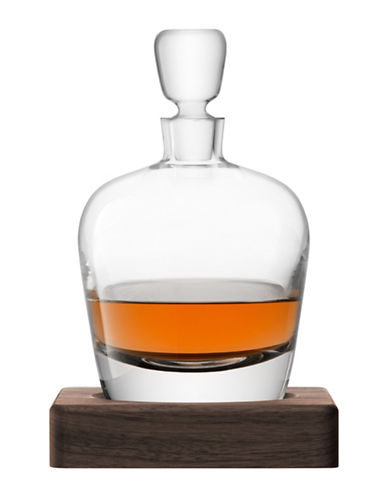 Lsa International Whisky Arran Decanter and Walnut Base-CLEAR-One Size