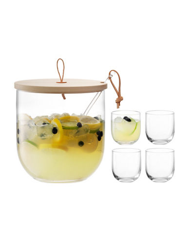 Lsa International Ivalo Punch Bowl Set-CLEAR-One Size