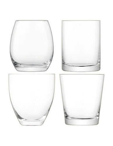 Lsa International Lulu Set of Four Handmade Glass Tumblers-CLEAR-One Size