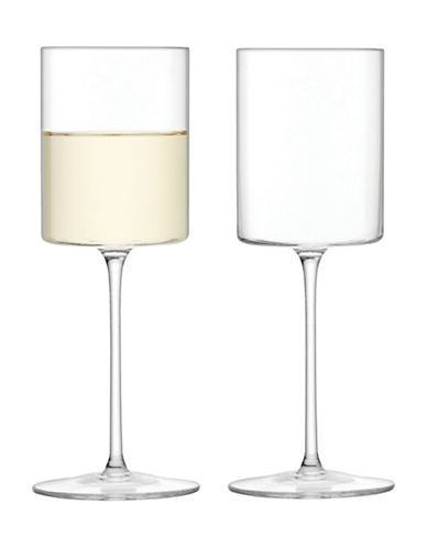 Lsa International Set of Four Otis White Wine Glasses-CLEAR-One Size
