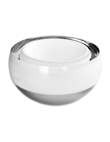 Lsa International 6-Inch Handmade Glass Host Bowl-WHITE-15