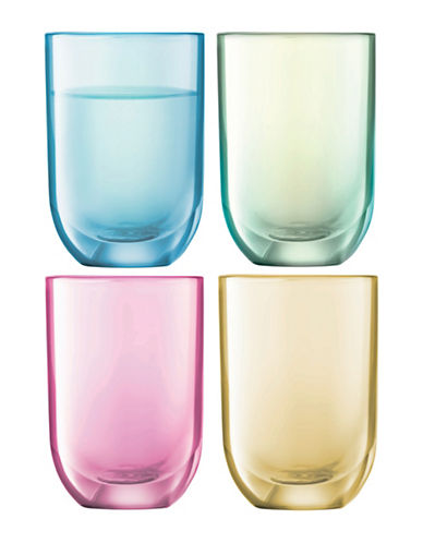 Lsa International Polka Set of Four Handpainted Vodka Glasses-ASSORTED-One Size