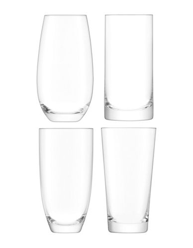 Lsa International Lulu Set of Four Handmade Highball Glasses-CLEAR-One Size