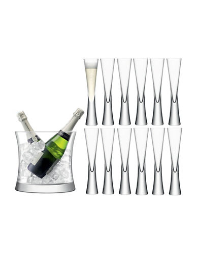 Lsa International Moya 13-Piece Handmade Glass Champagne Grand Serving Set-CLEAR-One Size