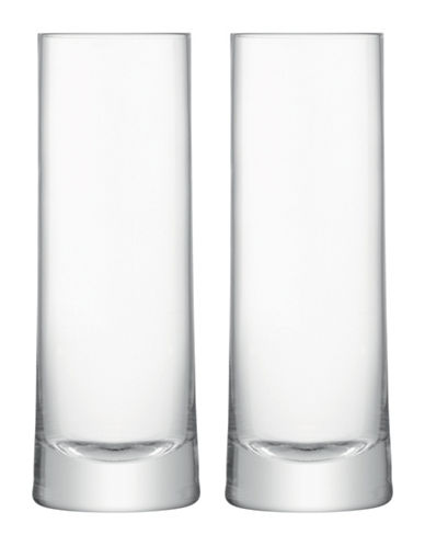 Lsa International Gin Set of Two Handmade Highball Glasses-CLEAR-One Size