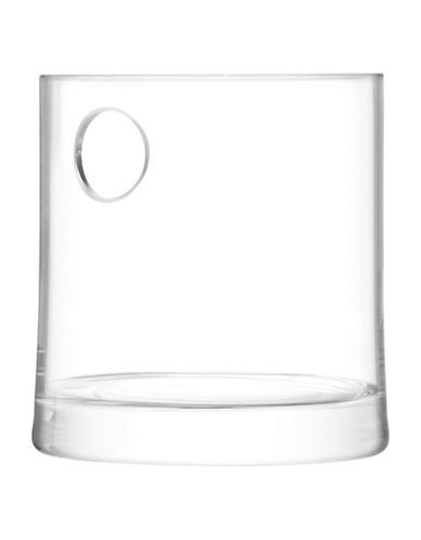 Lsa International Gin Handmade Glass Flared Ice Bucket-CLEAR-One Size