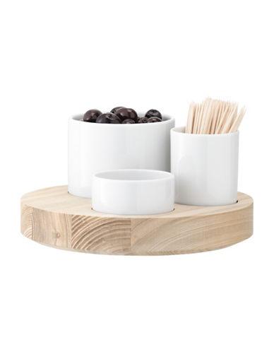 Lsa International Lotta Olive Set and Ash Base-WHITE-One Size