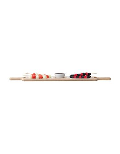 Lsa International Paddle Duo Serving Set and Oak Paddle-WHITE-One Size