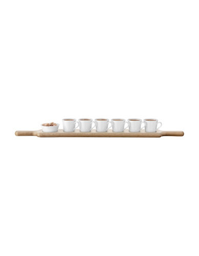 Lsa International Paddle Espresso Set and Oak Paddle-WHITE-One Size
