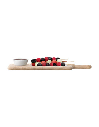 Lsa International Paddle Serving Set and Oak Paddle-WHITE-One Size