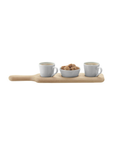 Lsa International Paddle Duo Espresso Set and Oak Paddle-WHITE-One Size