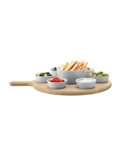 Lsa International Paddle Tapas Set and Oak Paddle-WHITE-One Size