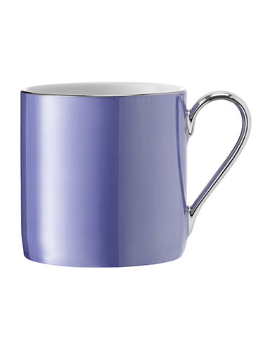Lsa International Polka Platinum-Rim Porcelain Mug-BLUEBELL-One Size