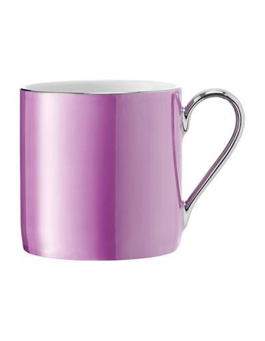 Lsa International Polka Platinum-Rim Porcelain Mug-RASPBERRY-One Size