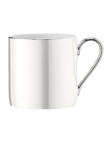 Lsa International Polka Platinum-Rim Porcelain Mug-PEARL-One Size