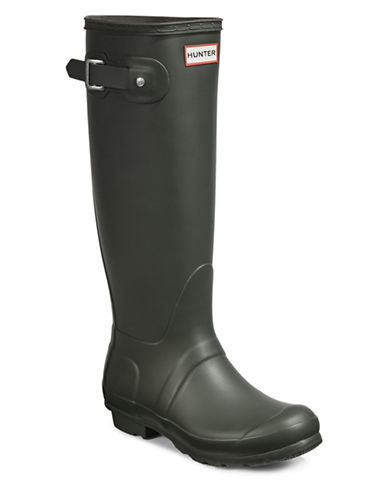Hunter Original Tall Rain Boots-OLIVE GREEN-8