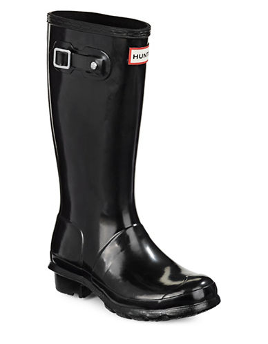 Hunter Youth Original Gloss Rain Boots-BLACK-4