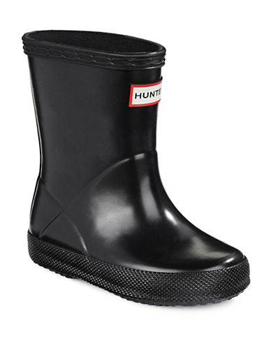 Hunter Toddler Original First Classic Gloss Rain Boots-BLACK-9