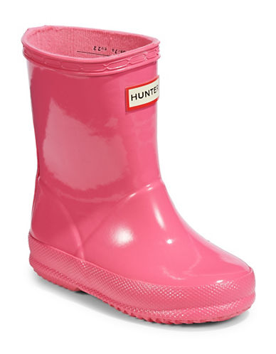 Hunter Kids Original First Classic Gloss Rain Boots-FUSCHIA-11