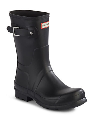Hunter Original Short Boots-BLACK-9