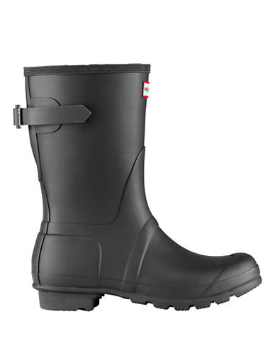 Hunter Original Short Matte Rain Boots with Adjustable Back-BLACK-8