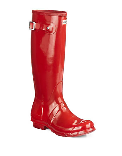 Hunter Original Tall Gloss Rain Boot-RED-5