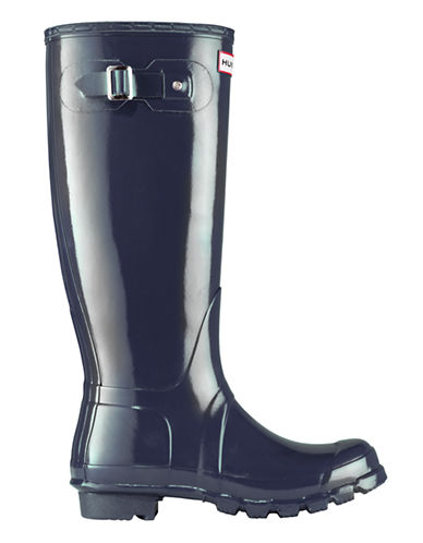 Hunter Original Tall Gloss Rain Boot-NAVY-6