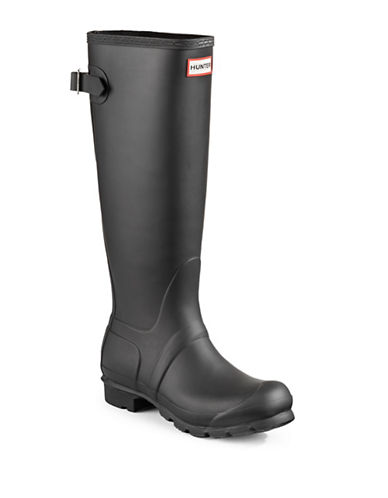 Hunter Original Back Adjustable Rain Boots-BLACK-9