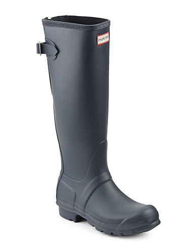Hunter Original Back Adjustable Rain Boots-NAVY-6