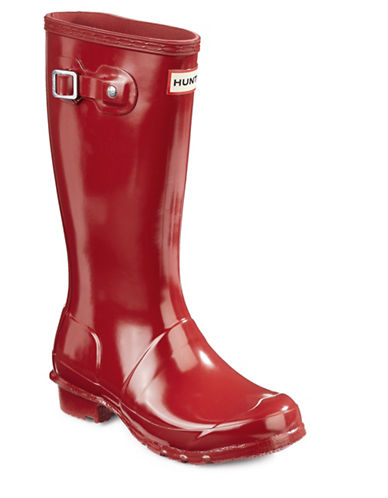 Hunter Youth Original Gloss Rain Boots-RED-3