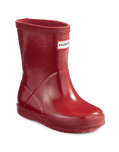 Hunter Kids Original First Classic Gloss Rain Boots-RED-8