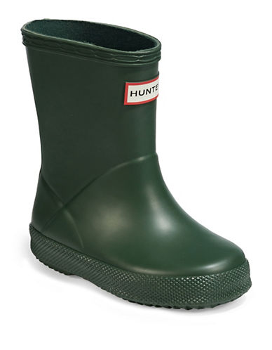 Hunter Kids First Classic Rain Boots-HUNTER GREEN-5