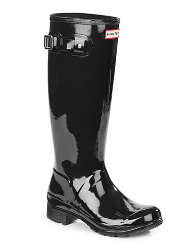 Hunter Original Tour Gloss Rain Boots-BLACK-8