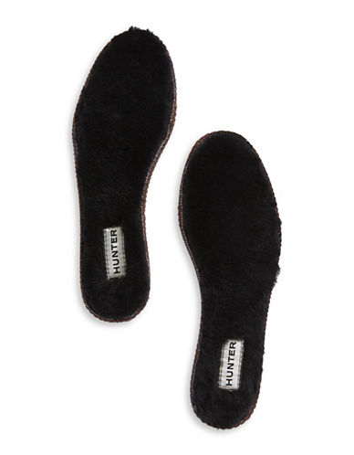 Hunter Luxury Shearling Insoles-BLACK-8