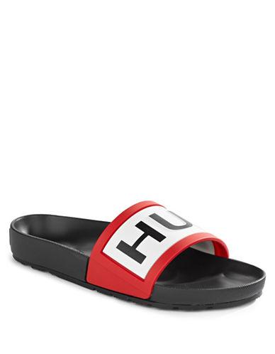 Hunter Hunter Slide Sandals-BLACK-9
