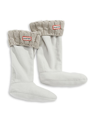 Hunter Tall Cable Knit Boot Socks-GREY BEIGE MIX-Medium