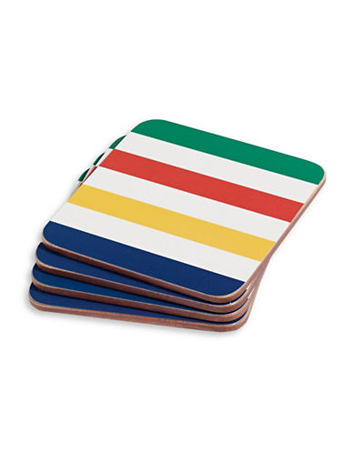 HudsonS Bay Company Multi-Stripe Coasters-MULTI-One Size