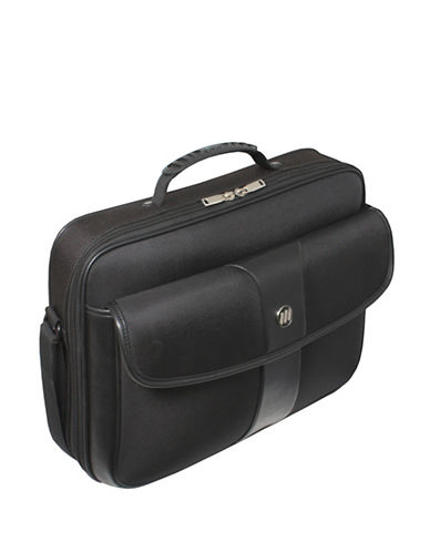 Gino Ferrari Aeon Laptop Clamshell Briefcase-BLACK-One Size