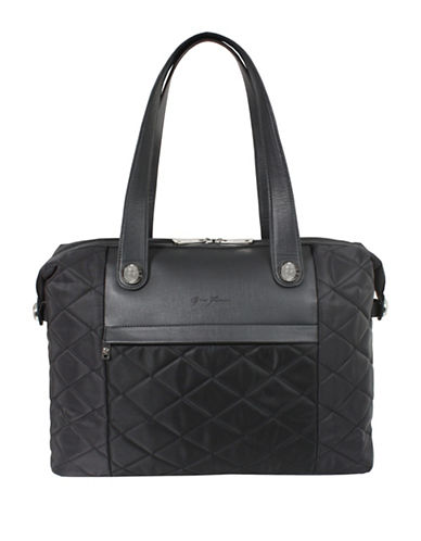 Gino Ferrari Linate Laptop Tote-BLACK-One Size