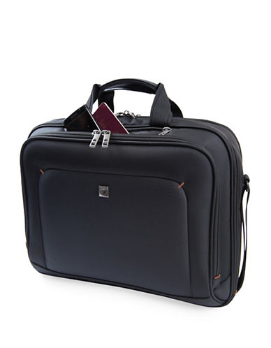 Gino Ferrari Loxo Top Load Laptop Business Bag-BLACK-One Size