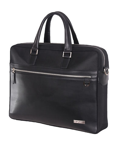 Gino Ferrari Premier 16-Inch Laptop Bag-BLACK-One Size