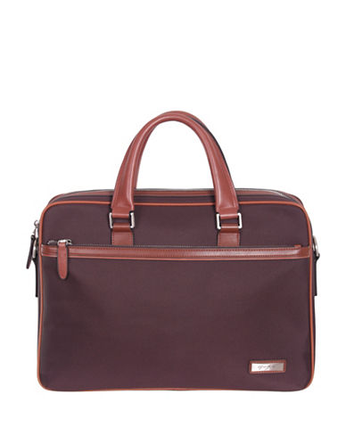 Gino Ferrari Tunis 14-Inch Tablet Bag-BURGUNDY-One Size